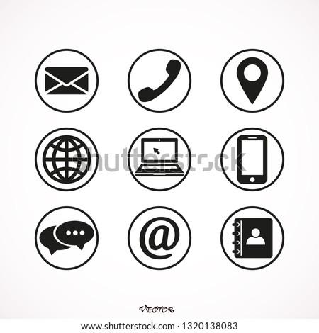 Contact  vector icon set - stock