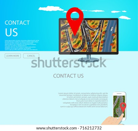 contact web page design with