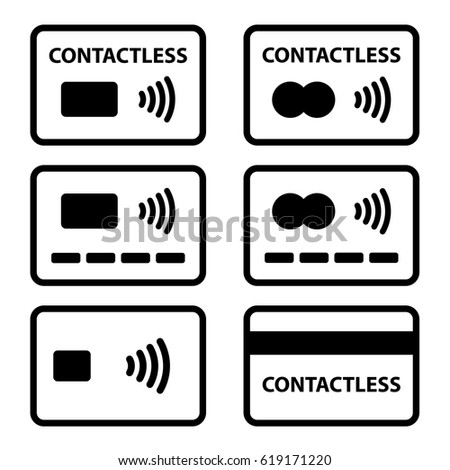 contactless NFC payment credit card icon vector