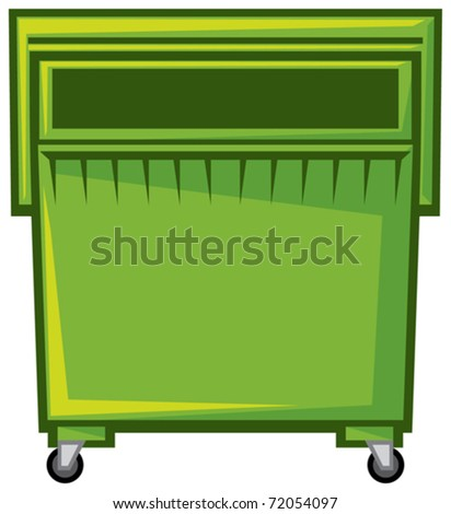 container of trash (garbage, recycling bins)