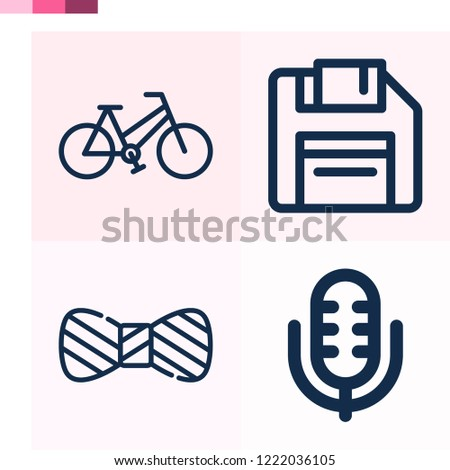 Contains such icons as bicycle, diskette, bow tie and more 1000x1000 pixel perfect.