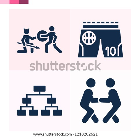 Stock Photo Contains such icons as playoff, combat, battle and more 1000x1000 pixel perfect.