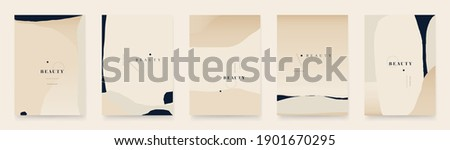 Contemporary abstract universal background templates. Minimalist aesthetic. Foto stock ©