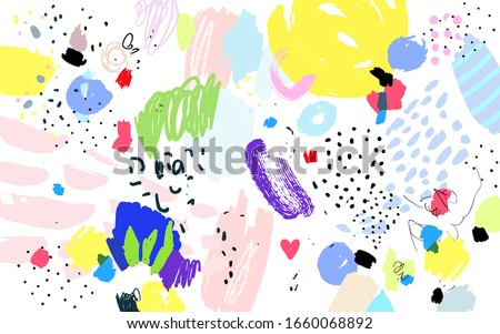 contemporary art pattern brush