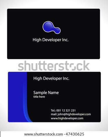contemporary businesscard template