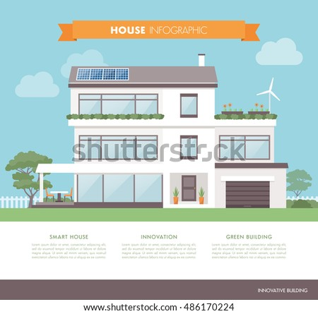 contemporary eco house  with