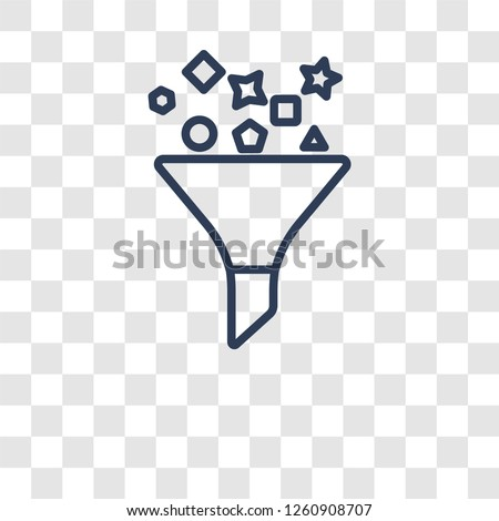 Content curation icon. Trendy Content curation logo concept on transparent background from Technology collection