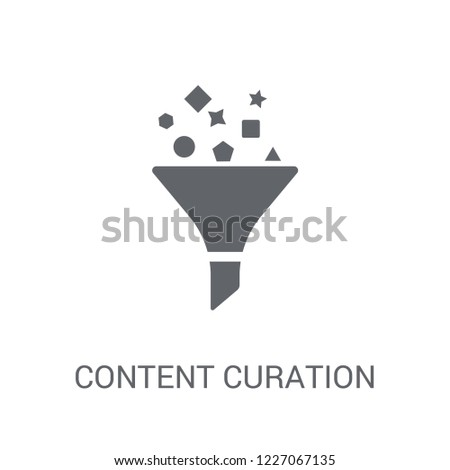 Content curation icon. Trendy Content curation logo concept on white background from Technology collection. Suitable for use on web apps, mobile apps and print media.
