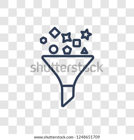 Content curation icon. Trendy linear Content curation logo concept on transparent background from Technology collection