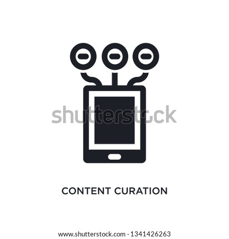content curation isolated icon. simple element illustration from technology concept icons. content curation editable logo sign symbol design on white background. can be use for web and mobile