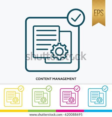 Content Icon Vector Symbol Silhouette Design
