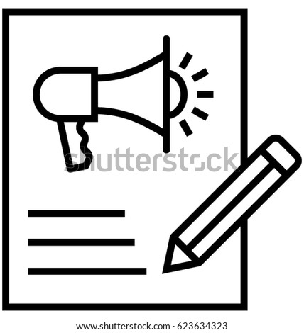Content Marketing Vector Icon