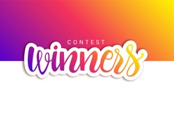 Contest Winners Banner.  Useful as jpg, png, eps, cdr, svg, pdf, ico, gif
