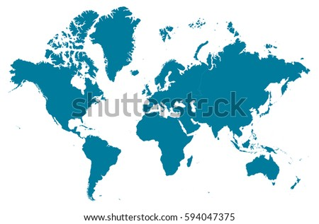 continents blue map vector