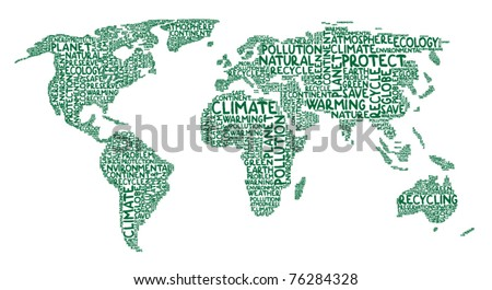 Continents made of ecology words
