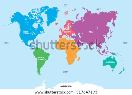 World continents map vector download free vector art stock continents of the world map gumiabroncs Gallery