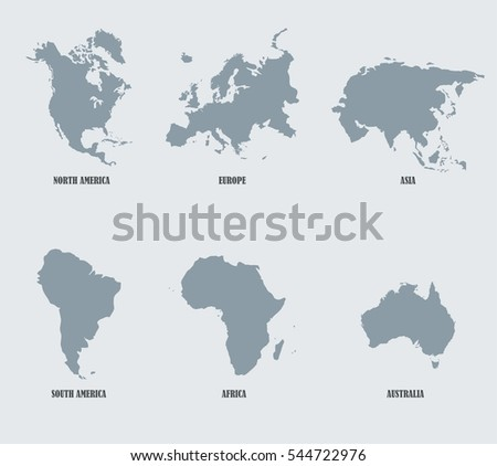 Continents map download free vector art stock graphics images continents vector map gumiabroncs Images