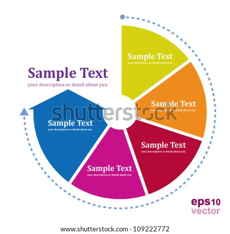 Continual circle arrow multicolor /  graph, infographic, business plan, education, can use for business concept, education diagram, brochure object.