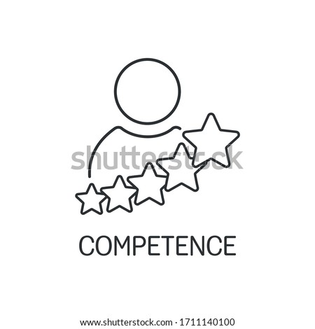 Continuous development. Professionalism, competence. Vector linear icon isolated on white background. Stock photo ©