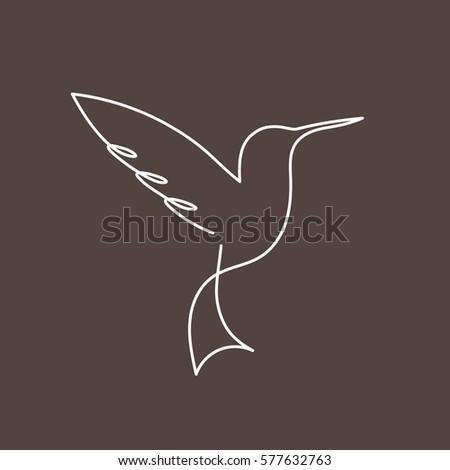 continuous line bird vector