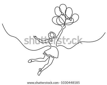 continuous line drawing girl