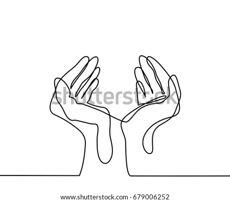 continuous line drawing hands