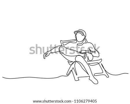 continuous line drawing man