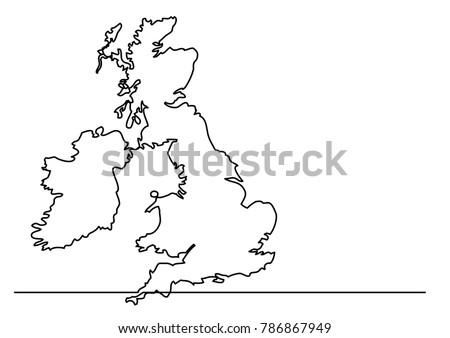 continuous line drawing   map