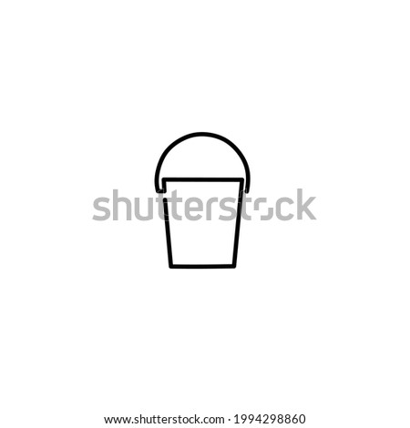 Continuous line drawing of bucket, objet one line, single line art, vector illustration Photo stock ©