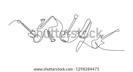 continuous line drawing of jazz