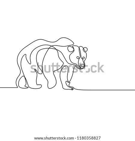 continuous line going bear