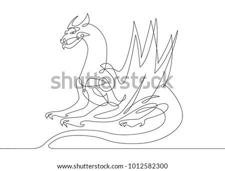 Dragon Line Drawing Download Free Vector Art Stock Graphics Images