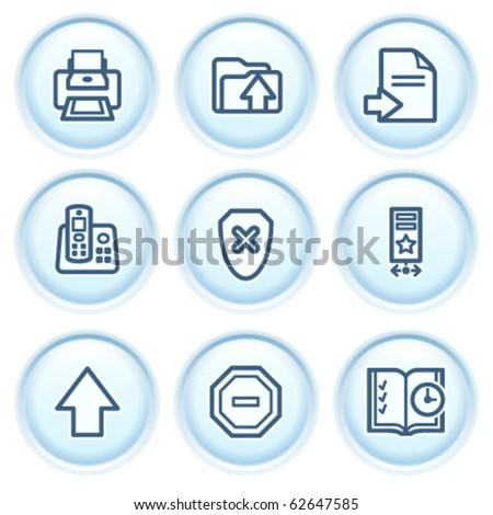 Contour icon on blue button 4