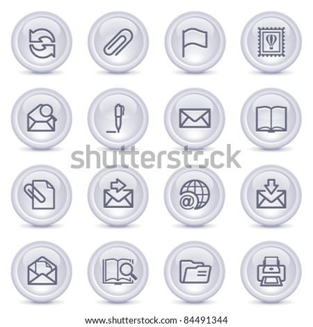 Contour icons on glossy buttons 2