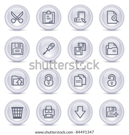 Contour icons on glossy buttons 6