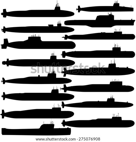 contour image of submarines