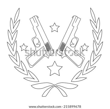 contour  line art logo isolated