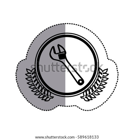 contour symbol onkey wrench icon, vector illustration design image