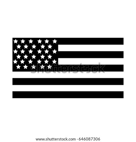 contour usa flag to celebrate holiday patriotic #646087306