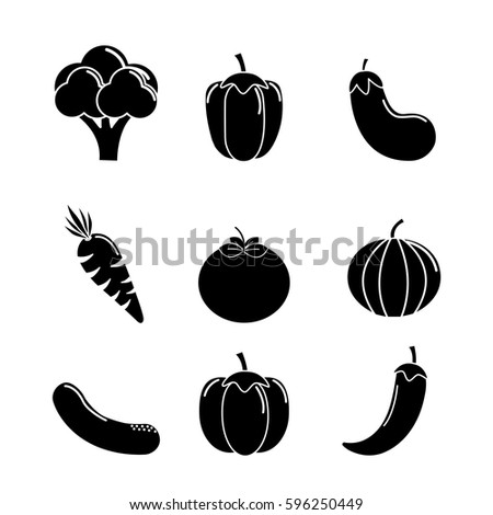 contour vegetable background icon