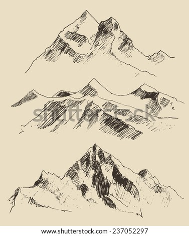 contours of the mountains...