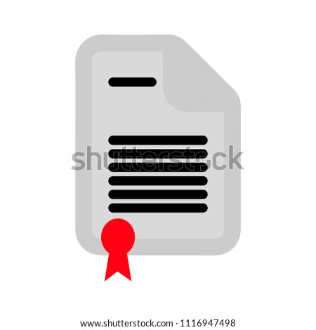 Contract document. signature document icon - web page symbol - office file format