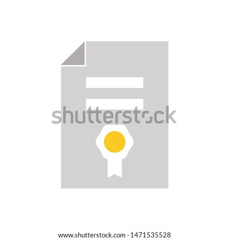 contract icon. flat illustration of contract - vector icon. contract sign symbol