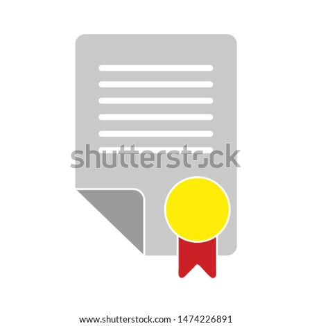 contract icon. flat illustration of contract vector icon. contract sign symbol