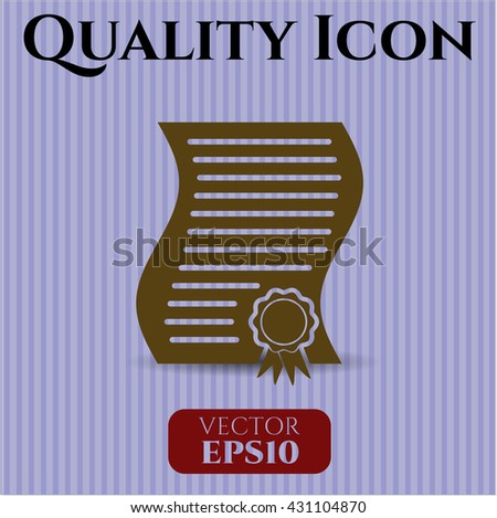 contract icon vector symbol flat eps jpg app web concept website