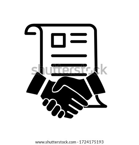 Contract signing icon vector logo Stock foto ©