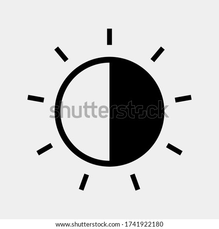 Contrast icon, brightness icon. adjust contrast icon. Signs and symbols can be used for web, logo, mobile app, UI, UX. vector illustration Stock photo ©