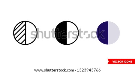 contrast icon of 3 types  color