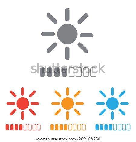Contrast level icon set