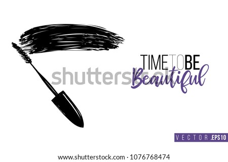 contrast mascara wand with text